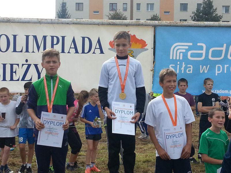 biegi przełajowe 2014 - II miejsce